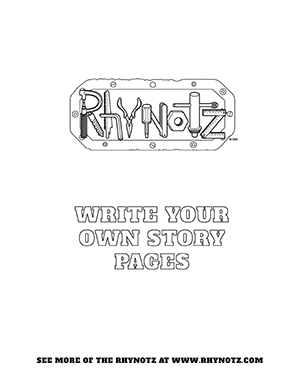 Rhynotz Tools Write Your Own Story Pages blanks